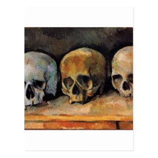 Cézanne Schädel-Dreiergruppe Postkarte