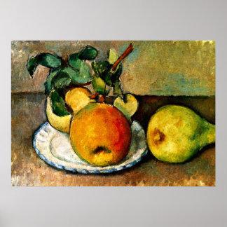 Cezanne - Stillleben mit Äpfeln und Birnen Poster