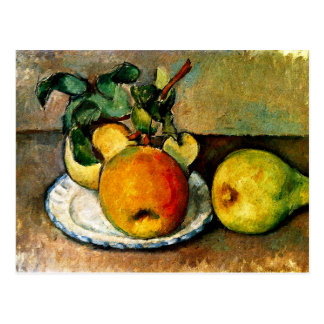 Cezanne - Stillleben mit Äpfeln und Birnen Postkarte
