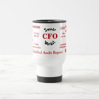 CFO Kraftausdrücke! - Lustige CFO Reise-Tasse Edelstahl Thermotasse
