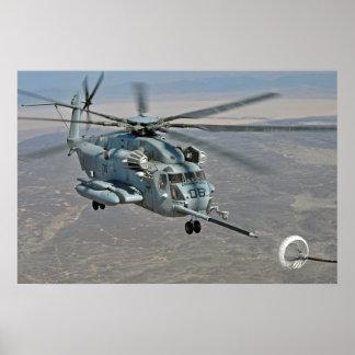 CH-53E auf Brennstoffaufnahme-Auftrag-Plakat Poster