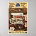 CH&D Pullman Speisewagen Plakat 1894