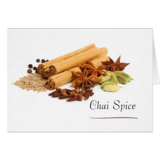 Chai-Gewürz-Mitteilungskarten Karte