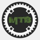 Chainring Mountainbike Runder Aufkleber