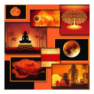 Chakra Collage Fotodruck