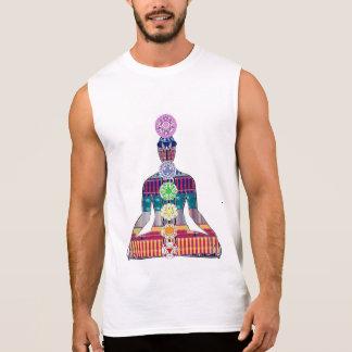 CHAKRA Diagramm Yoga-Meditations-Friedens-NVN630 Ärmelloses Shirt
