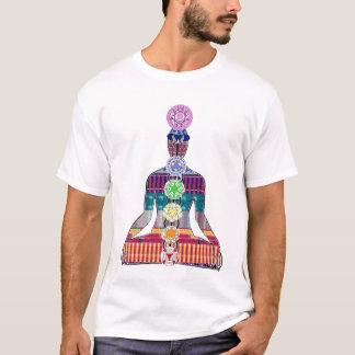 CHAKRA Diagramm Yoga-Meditations-Friedens-NVN630 T-Shirt