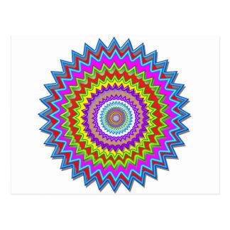 CHAKRA heilt Rad belichtete helle Farbenergie Postkarte