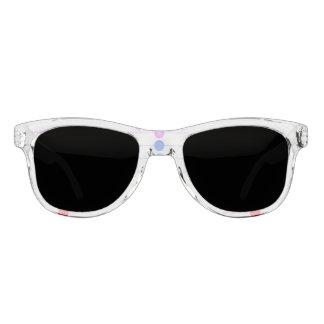 Chakra Ikonen mit jeweiligen Farben Brille