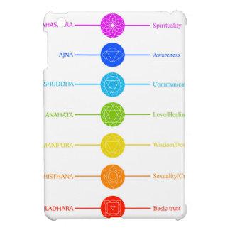 Chakra Ikonen mit jeweiligen Farben iPad Mini Hülle