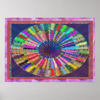 CHAKRA Lichtquelle-Meditation Poster