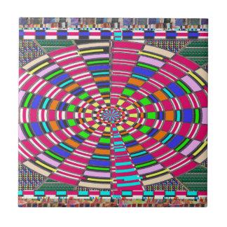 Chakra Mandala-Kreis runde kreisförmige bunte Fliese