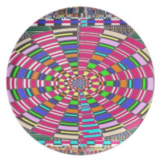 Chakra Mandala-Kreis runde kreisförmige bunte Teller