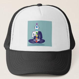 Chakra Meditationsvektorillustrationsschwimmen Truckerkappe