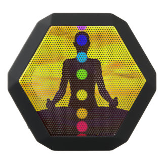 Chakras am Sonnenuntergang - 3D übertragen Schwarze Bluetooth Lautsprecher