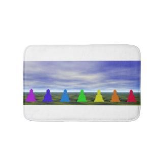 chakras und Farben und Himmel Badematten