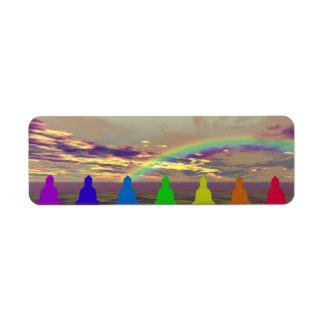 chakras und Farben und Himmel puple Gelb