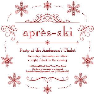 Winter Party Einladungen Zazzle De