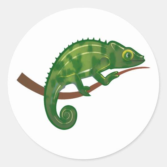 Chamäleon chameleon runder aufkleber