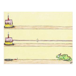 CHAMÄLEON-GEBURTSTAGS-Postkarte durch Nicole Janes