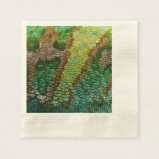 Chamäleon-Haut-Beschaffenheits-Schablone Papierserviette