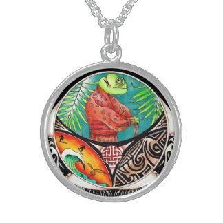 Chamäleon-Kunst-Zeichnen Sterling Silberkette