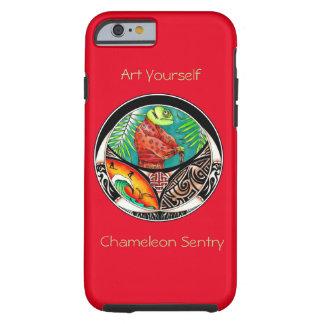 Chamäleon-Kunst-Zeichnen Tough iPhone 6 Hülle