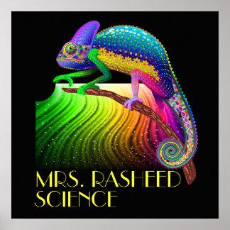 Chamäleon-/Lehrer für Wissenschafts-Plakat Poster
