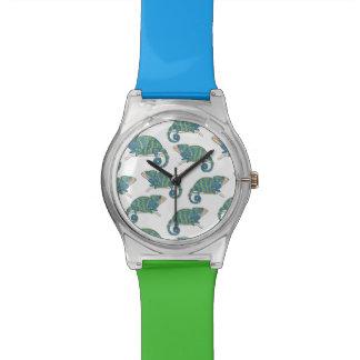 Chamäleon-Muster Uhr