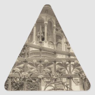 Chamas Landhaus-Schluss Dreieckiger Aufkleber
