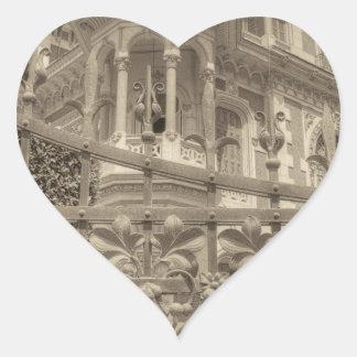Chamas Landhaus-Schluss Herz-Aufkleber