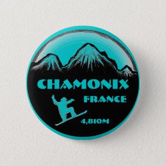 Chamonix Frankreich aquamariner Runder Button 5,7 Cm