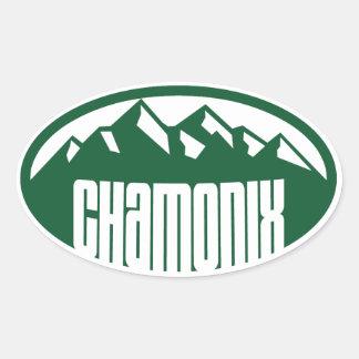 Chamonix-Oval Ovaler Aufkleber