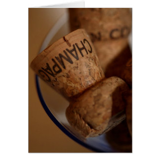 Champagne bekorkt Karte - Ihren Text hier