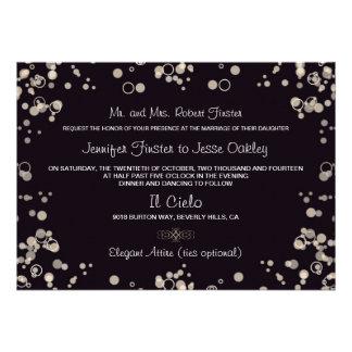 Champagne-Blasen - Schwarzes und Einladungskarten