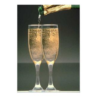 Champagne-Glas-Polterabend-Einladung 12,7 X 17,8 Cm Einladungskarte