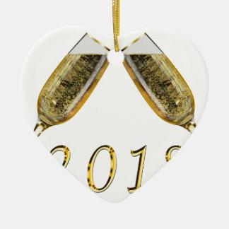 Champagne-Gläser 2018 Keramik Ornament