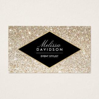 Champagne-GoldGlitter-und -Glamour-Geschäfts-Karte Visitenkarte