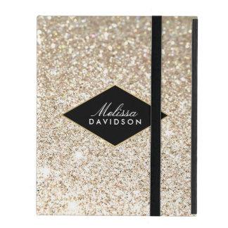 Champagne-GoldGlitter und -Glamour personalisiert iPad Schutzhüllen