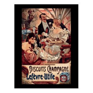 Champagne-Kekse 1896 Postkarte