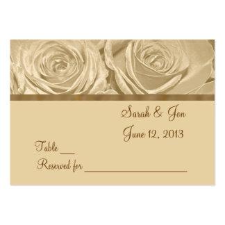Champagne-Rosen, die Tabellen-Platzkarte Wedding Mini-Visitenkarten
