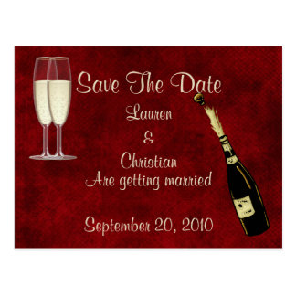 Champagne Save the Date Postkarte