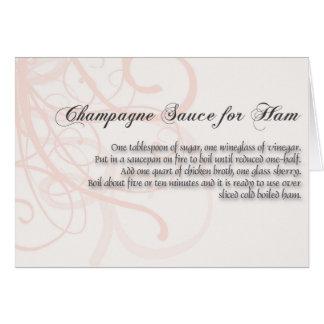 Champagne-Soße für ha, Karte