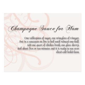 Champagne-Soße für ha, Postkarte