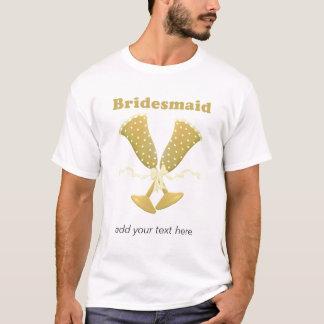 Champagne-Toast-Brautjungfern-T-Shirt T-Shirt