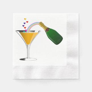 Champagne-Toast Papierserviette
