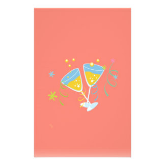 Champagne-Toast. Retro Geburtstags-Party-Rosa Personalisierte Flyer