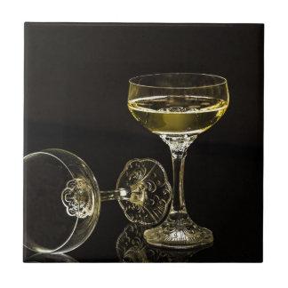 Champagnergläser Keramikfliese