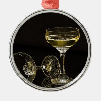 Champagnergläser Silbernes Ornament