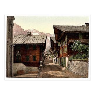 Champery, Hauptstraße, Wallis, Alpen von, Switz Postkarte